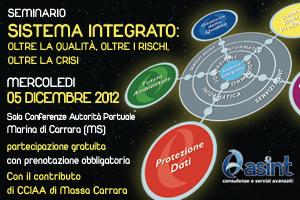 ASINT Seminario Sistema Integrato 5 dic 2012